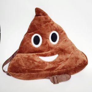 Handbags - Brown Poop Emoji Backpack new bag